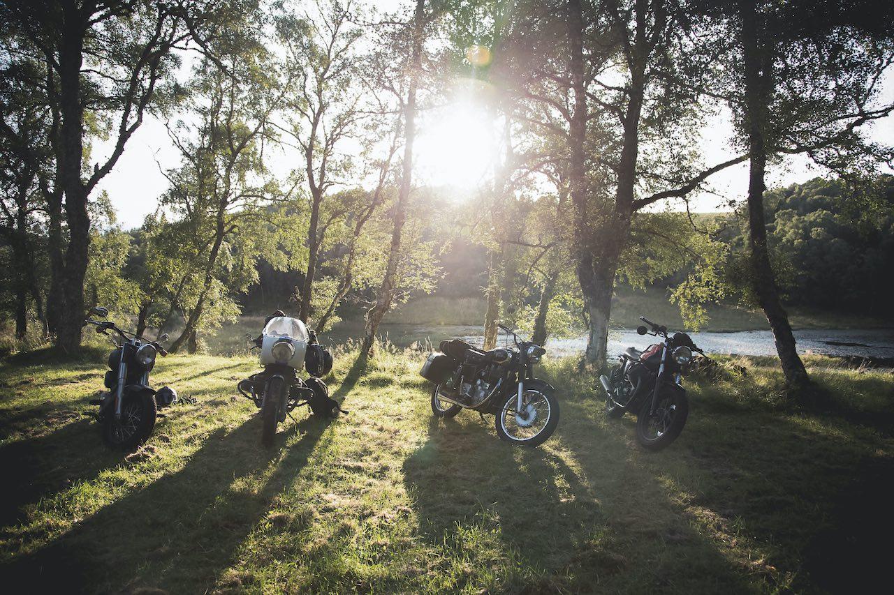 bikerBnB Motorcycle Road trip Woods