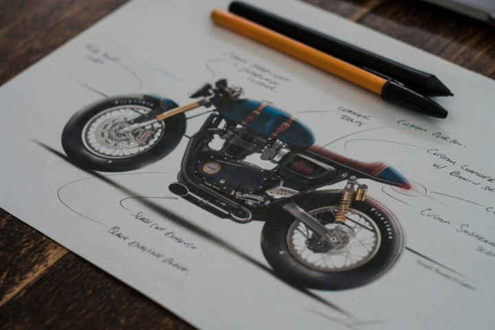 Triumph Thruxton R Sketch | CustomBIKE.cc