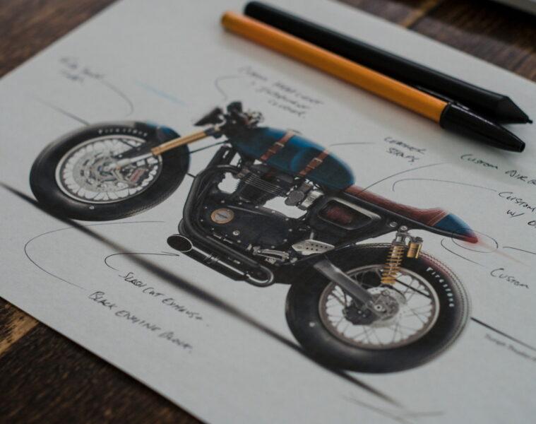 Triumph Thruxton R Sketch | CustomBIKE.cc