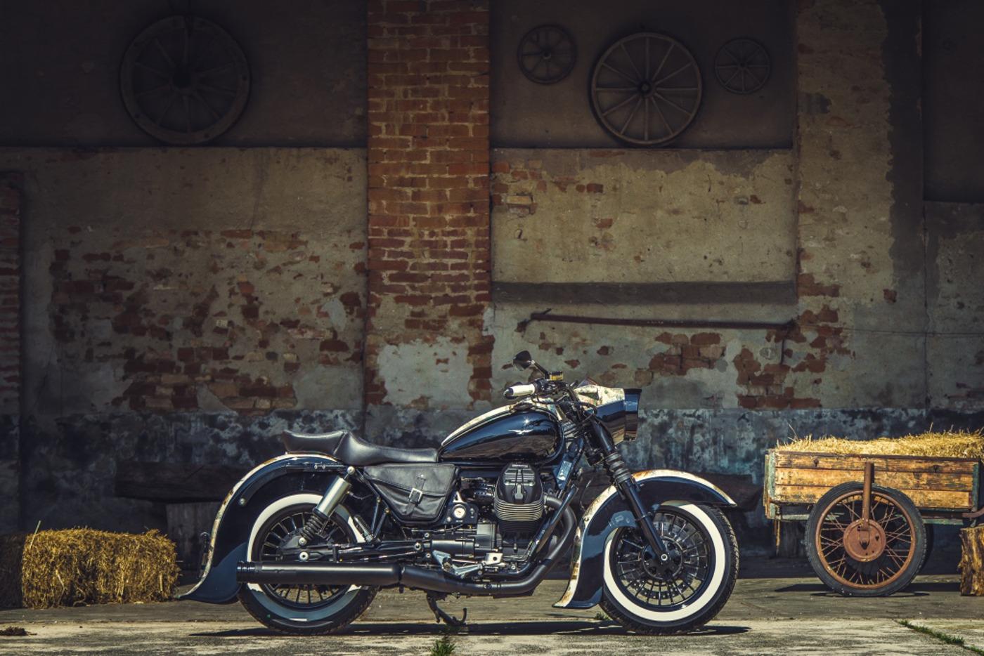 Moto Guzzi V9 Bobber Custom, 'Vecchio Conio' by Rustom