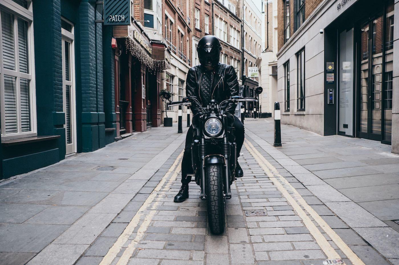 Goldtop England Bobber Jacket Black Leather