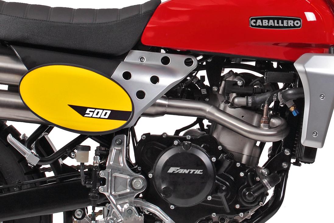 Fantic Caballero Scrambler 500 engine