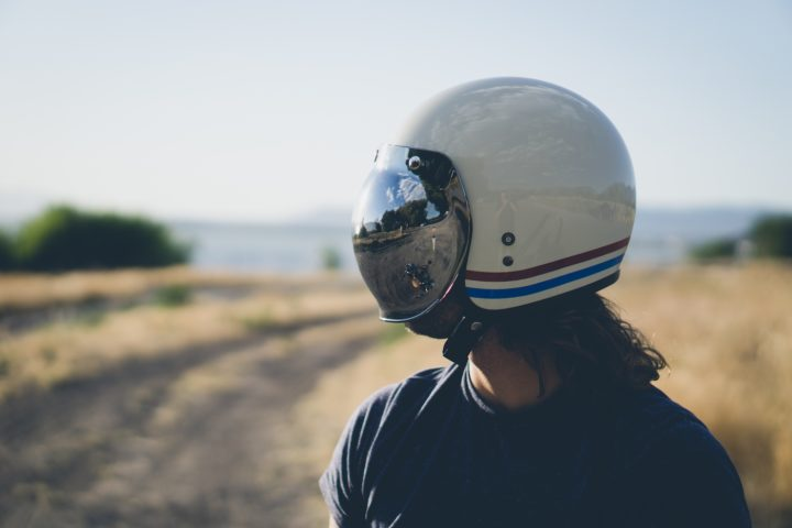 Bell Custom 500 with Mirrored Bubble Visor Cameron-Kirby