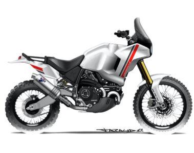 Ducati Scrambler DesertX Concept Sketch