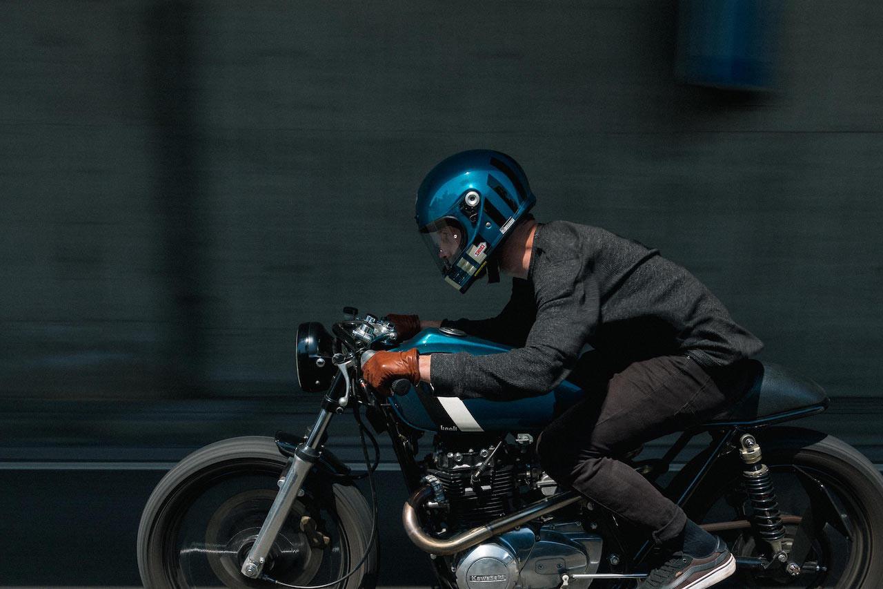 Shoei Glamster with Custom Bike