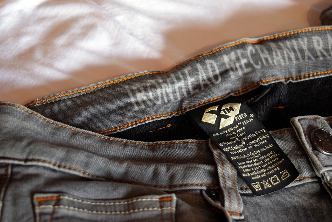 Close up of Ironhead XTM Motorcycle Jeans