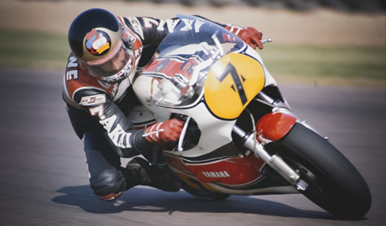 Barry Sheene in Action on GP Motorcycle