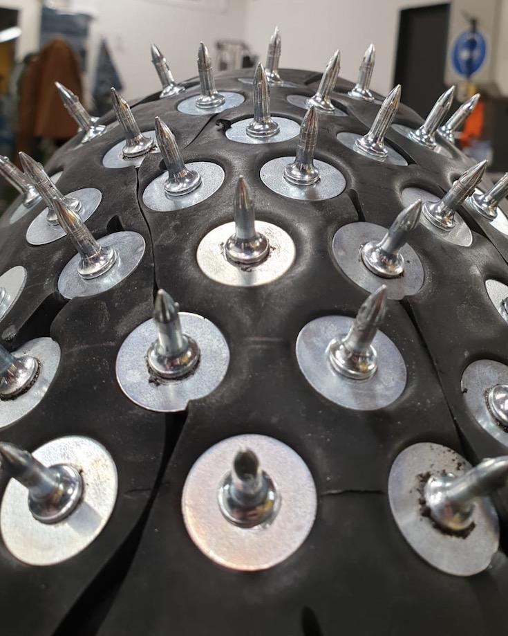 Ice Studs on Dunlop Tyre Scout Bobber Appaloosa v2