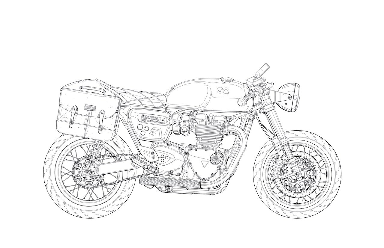 UMC-54 TRIUMPH LINE Drawing for colouring