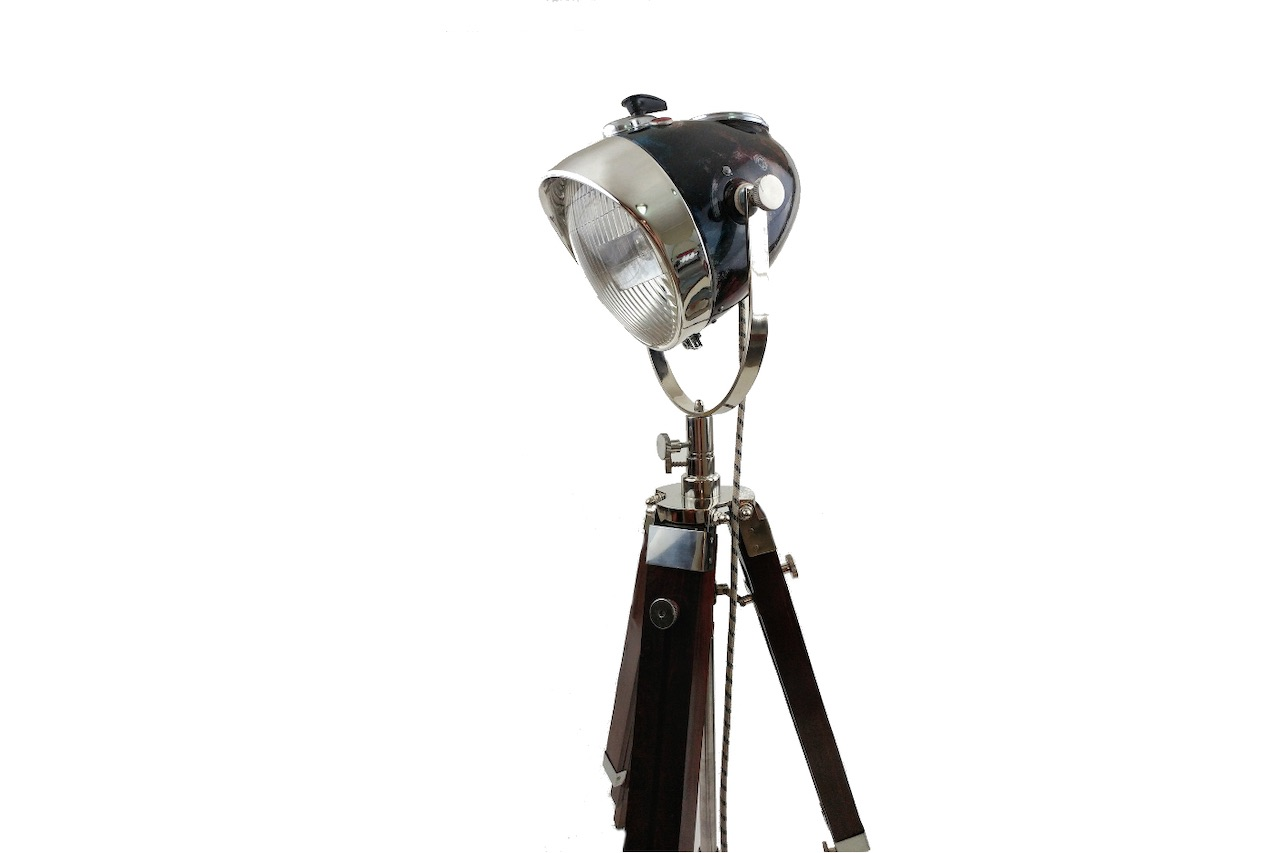 Vintage Headlight -  Desk Lamp Headlight with original patina