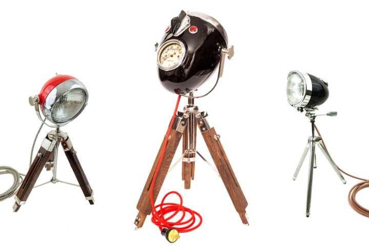The Modern Weld Vintage Motorcycle Headlamp Lighting