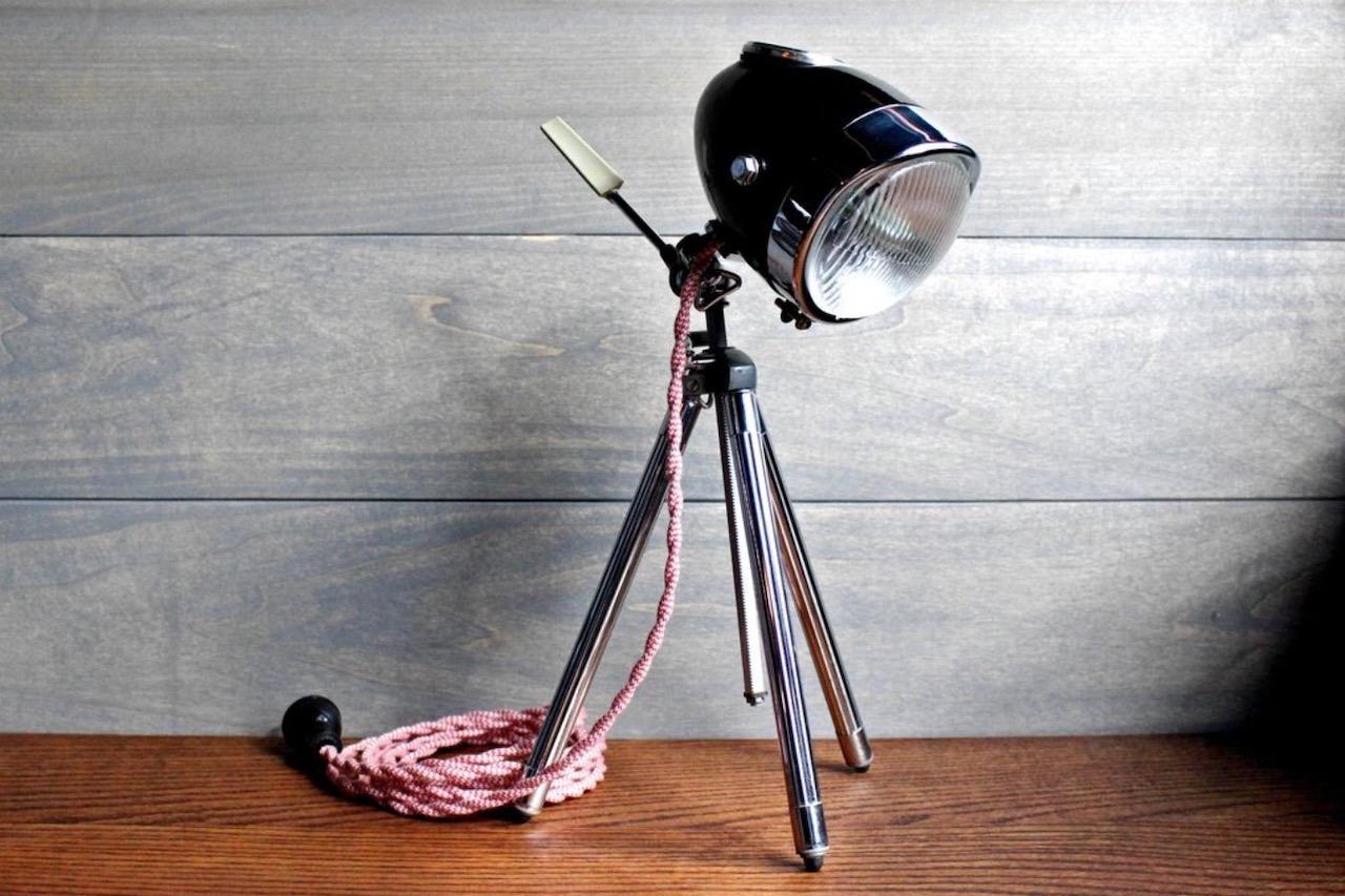 Modern Weld Motorcycle Desk Lamp