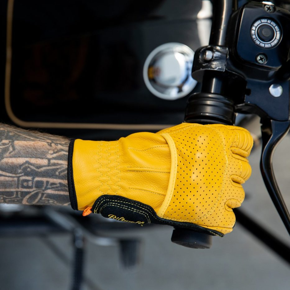 Biltwell Borrego Gloves on handlebars