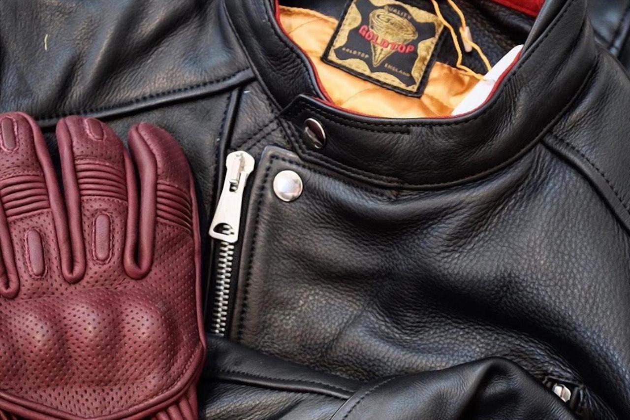 Goldtop England Predator Motorcycle Gloves Burgundy