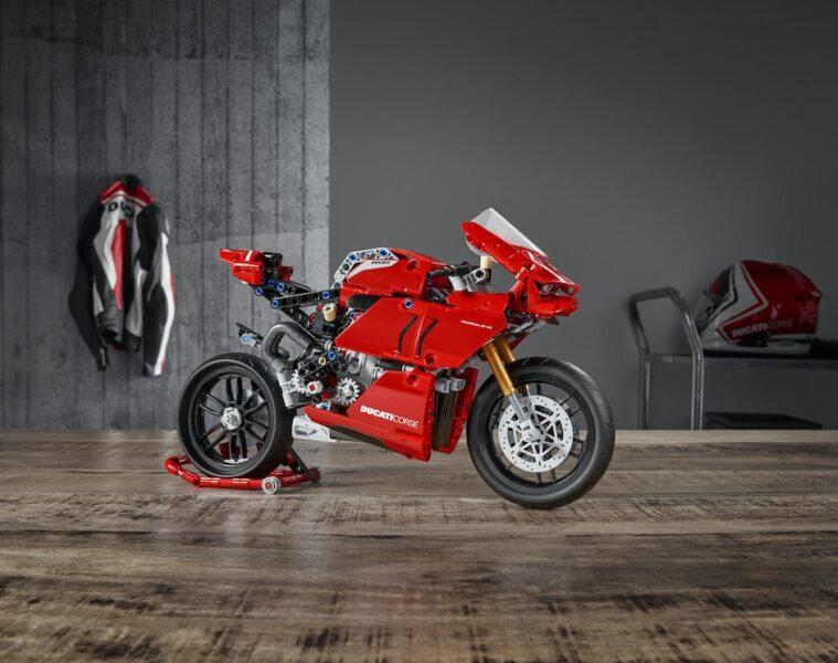Ducati LEGO Panigale V4 R Technic Reproduction Set - tabletop