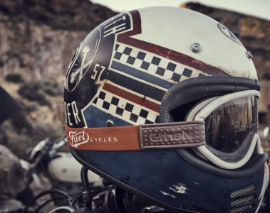 Fuel Motorcycles El Gringo tour Helmet with Fuel goggles