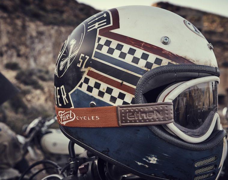 Fuel Motorcycles El Gringo tour Helmet with Fuel goggles