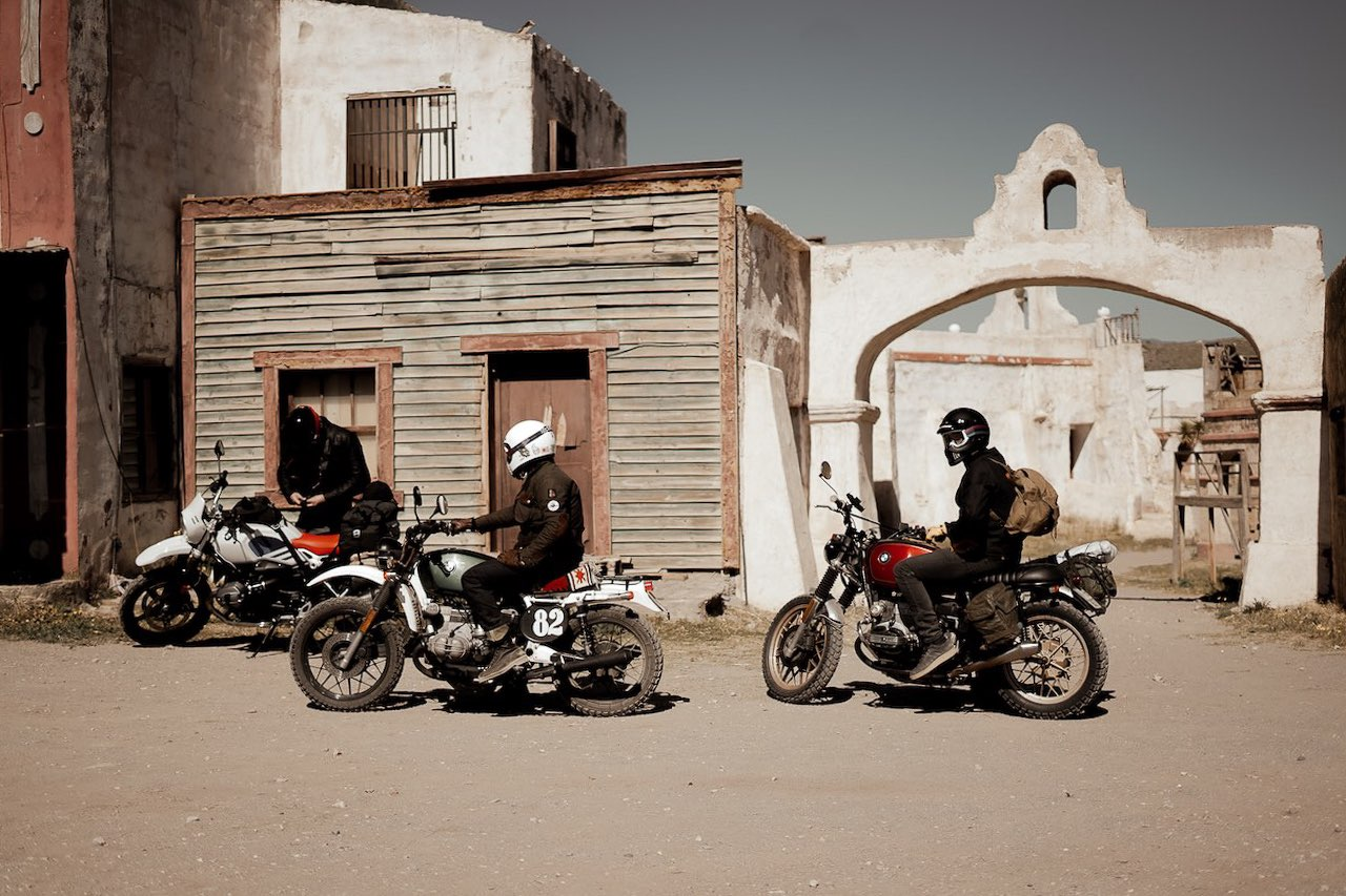 Riders at Fort Bravo Spain on Fuel El Gringo Tour by Gus Galvani