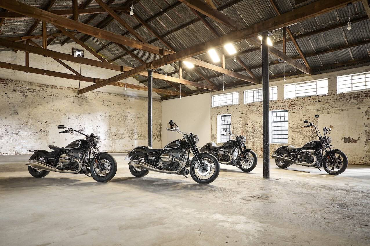 BMW R 18 Motorcycles in a Warehouse