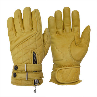 Goldtop England - The Quilted Cafe Racer Gloves