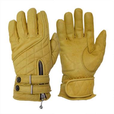 Goldtop England - The Quilted Cafe Racer Gloves