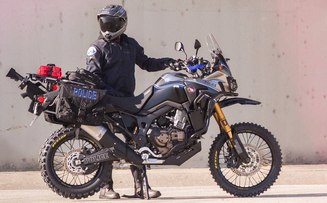 Redondo PD Africa Twin with Police rider