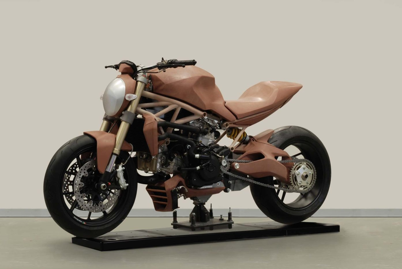 Clay concept model, Ducati Monster 2007