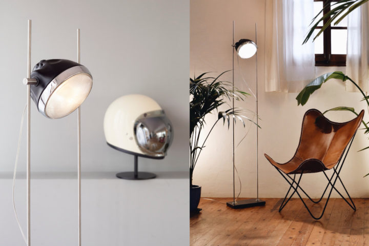 Halley R-lamp with helmet and chair