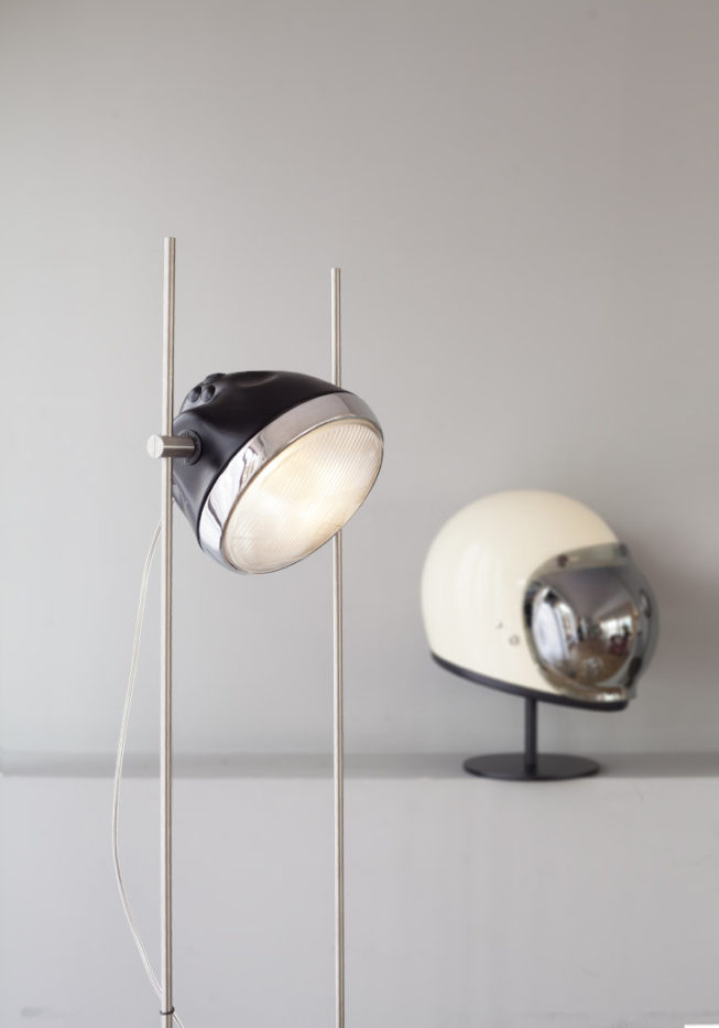 Close-up for Halley lamp with Gringo S helmet