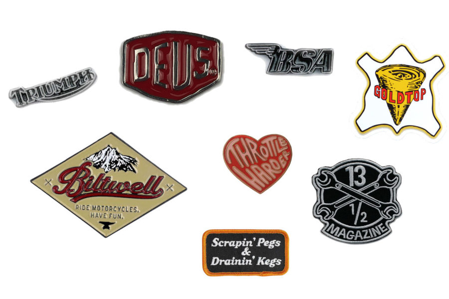 Retro Stickers Pins and Badges