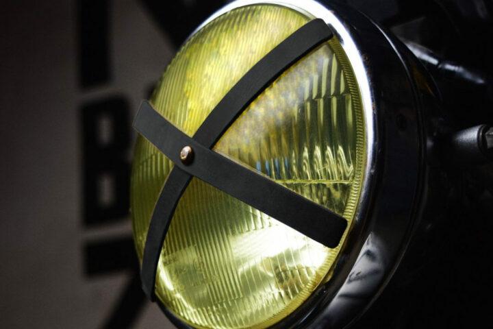Trip Machine Headlight X with yellow motorcycle headlight glass
