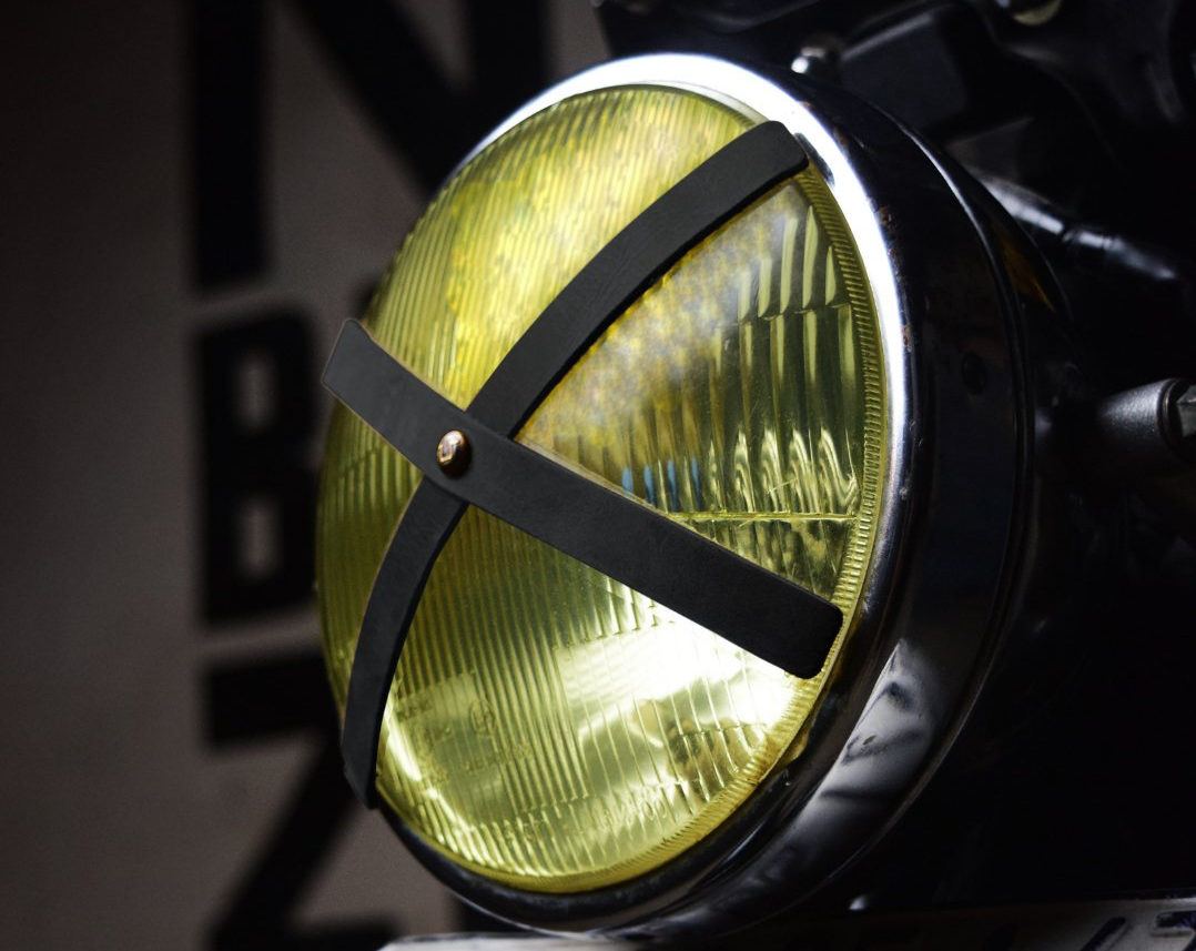 Trip Machine Headlight X with yellow motorcycle headlight glass