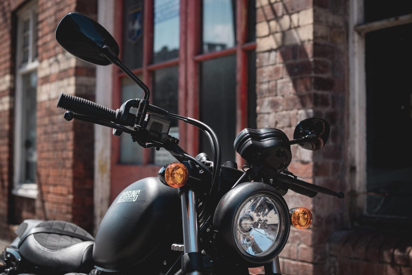 Classic round motorcycle headlight